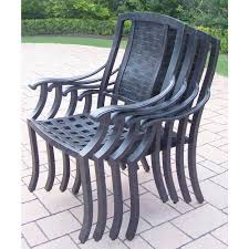 Patio Stack Chairs Oakland Living Vanguard Aluminum Patio Dining Chair 4 Pack