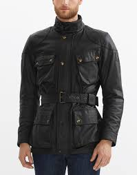 padded leather motorcycle jacket classic tourist trophy jacket pure motorcycle collection belstaff