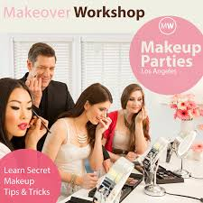 makeup courses los angeles makeup party on event los angeles makeover workshop
