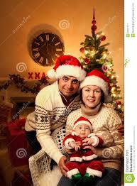 christmas family with baby stock image image of celebrating