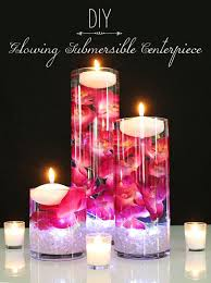 water centerpieces diy glowing submersible centerpiece afloral wedding