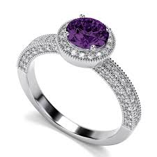 compare prices on amethyst engagement victorian vintage round amethyst engagement ring in 14k white gold