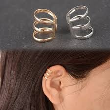 non pierced earrings es131 new style of ancient complex hollow u shaped clip earrings