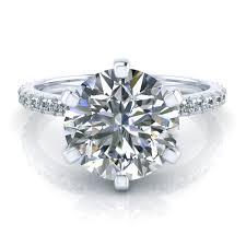 6 prong engagement ring 6 prong engagement ring setting with sidestones gtj3716 w