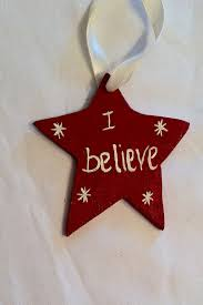 star wooden christmas ornament hand made hand painted or use as a