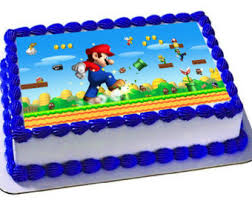 mario birthday cake why cake topper why edible image why
