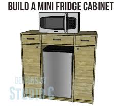 build a mini fridge cabinet perfect for a dorm room or a family