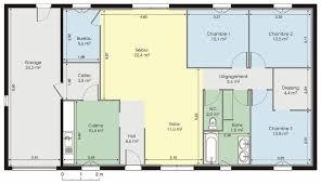 plan maison plain pied 100m2 3 chambres plan de maison plain pied 100m2 cuisine modele plein gratuit moderne