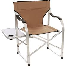 Folding Directors Chair With Side Table Aluminum Extra Large Director U0027s Chair Tan Direcsource Ltd 69104