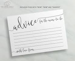 to be advice cards baby shower advice cards to be to be printable