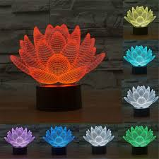 3d Lamps Amazon Amazon Com Lotus Flower 3d Night Light Touch Table Desk Lamps