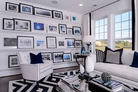Family Wall Picture Collage Family Room Contemporary With Living - Black and white family room