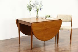 sold midcentury danish modern vintage teak dining table extends