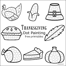 thanksgiving dot painting free printables the resourceful