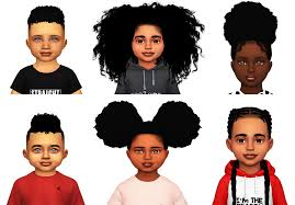 childs hairstyles sims 4 ebonix toddler starter kit simminginmelanin