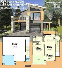 tiny house deck plan 62695dj ultra modern tiny house incredible floor plans