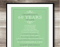 birthday gift 60 year 60 years etsy