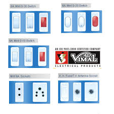 company wiring and electric fitting mint series switches