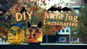 diy milk jug luminaries youtube