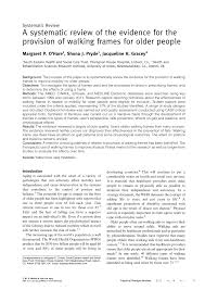 a systematic review of the evidence for the provision of walking