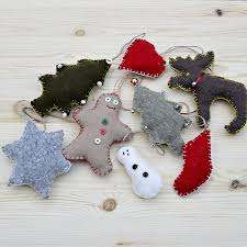 upcycled sweater and cookie cutter ornaments hometalk