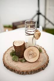 Centerpieces With Candles For Wedding Receptions by Best 25 Wedding Log Centerpieces Ideas On Pinterest Alternative