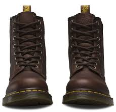 mens brown motorcycle boots dr martens mens 1460 bark brown grizzly textured heavyweight