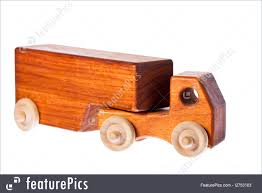 wooden truck toy picture of retro wooden toy