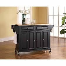 crosley furniture kitchen cart crosley furniture wood top kitchen cart walmart com