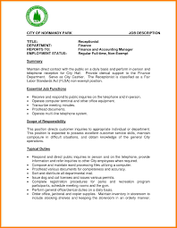 Resume Template For Medical Receptionist Receptionist Duties For Resume 28 Images Receptionist Duties