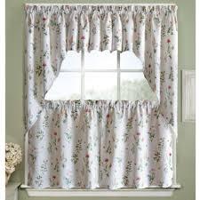 kitchen kitchen garden window curtains with white song bird