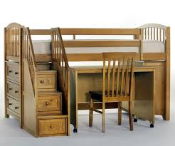 house pecan finish junior store and study low loft bed with
