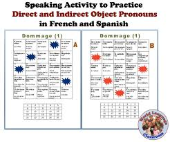 speaking activity to practice pronouns in a foreign language