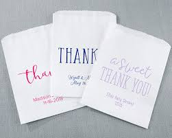 personalized goodie bags personalized thank you white goodie bags set of 12