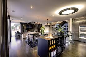 Modern Kitchen Living Room Ideas - attractive modern design living room space with wooden cabinet