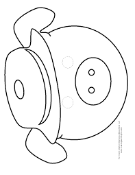 3 little pigs mask template coloring page wecoloringpage and pig