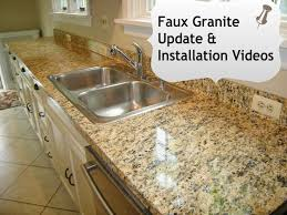 Granite Countertops Ideas Kitchen Best 25 Faux Granite Countertops Ideas On Pinterest Painted
