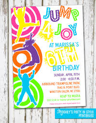 trampoline invitations bounce birthday party invitation templates pictures to pin on
