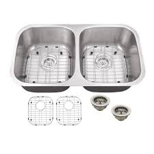 stainless steel double bowl undermount sink schon all in one undermount stainless steel 32 in double bowl