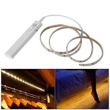 motion activated led light strip battery operated 1m led strip light wireless pir motion sensor