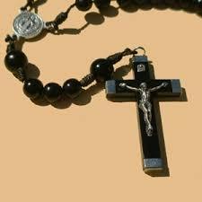 rosary crucifixes black wood rosary clear creek