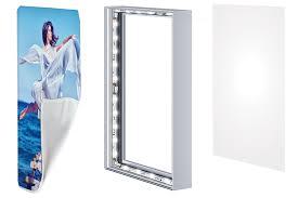 frameless pictures frameless seg light boxes for backlit fabric 40 visuals
