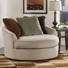 Round Armchairs Brown Leather Oversized Chair Comfortable Oversized Chairs In