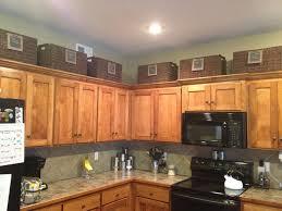 Kitchen Cabinet Storage Baskets Above Cabinets For More Storage Organization Pinterest