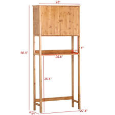 amazon com go2buy bamboo space saver cabinet over toilet for