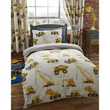 Train Cot Bed Duvet Cover Dumper Trucks Junior Toddler Duvet Cover And Pillowcase Set