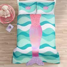 aqua ruffle comforter mermaid ruffle comforter 2 piece set lush decor www lushdecor com