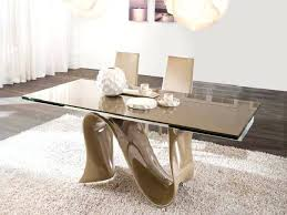 glass dining room table set unique glass dining tables laurenancona me