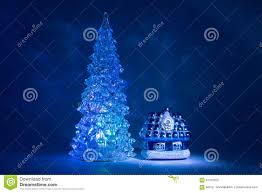 toy christmas tree shining with beautiful shadows northern lights