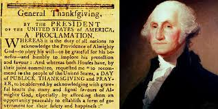 president george washington s thanksgiving day proclamation